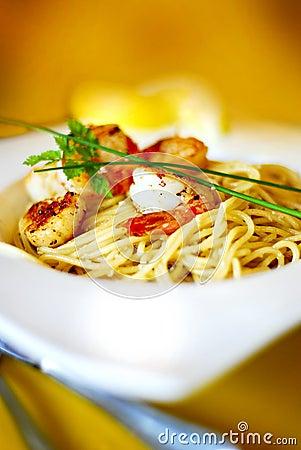 Aglio e Olio with Seafood