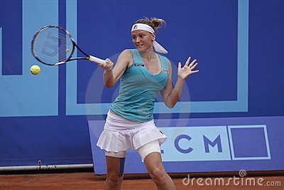 Agnes Szavay in WTA Prague tournament Editorial Stock Photo