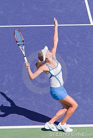 Agnieszka RADWANSKA at the 2009 BNP Paribas Open Editorial Photography