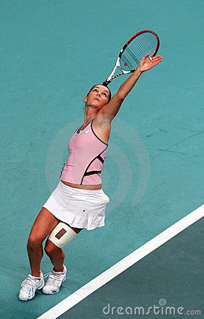 Agnieszka Radwanska at Open GDF SUEZ 2009 Editorial Stock Photo