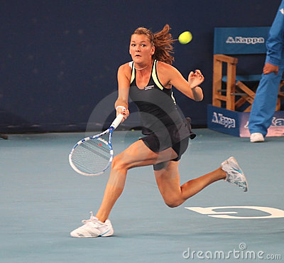Agnieszka Radwanska (POL) at the China Open Editorial Stock Photo