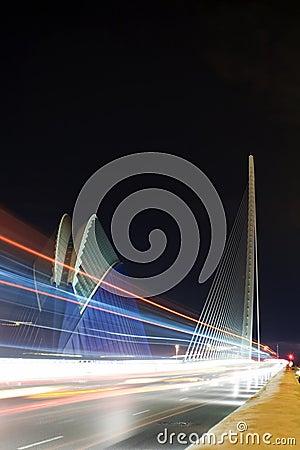 AGORA AND BRIDGE CITY OF ARTS & SCIENCES VALENCIA Editorial Photography