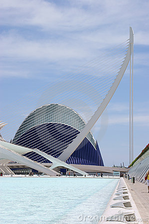 Agora and Puente dell Assut de l Or Editorial Stock Image