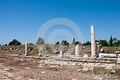 Agora street ancient city Side, Turkey