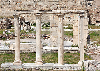 Agory Athens Greece rzymskie ruiny