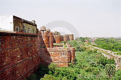 Agra Fort wall, India