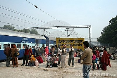 Agra train station, India Editorial Stock Image