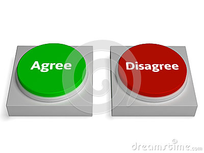 i agree button  Agree Disagree Buttons Shows Agreement