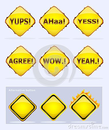 Agreement or congratulating buttons