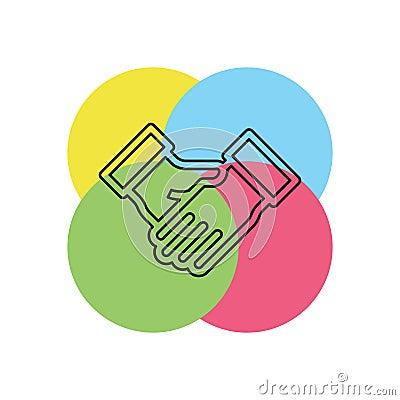 agreement, handshake icon Stock Photo