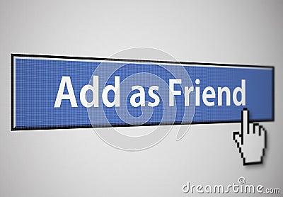 Agregue como botón del amigo