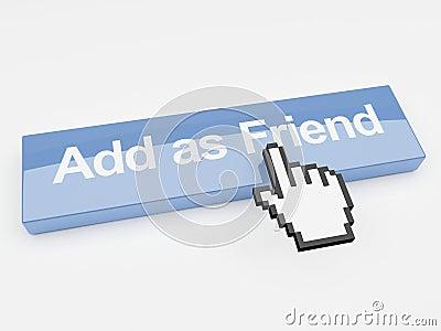 Agregue como botón social de la red del amigo