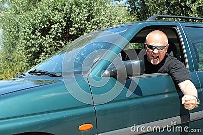Agressieve bestuurder