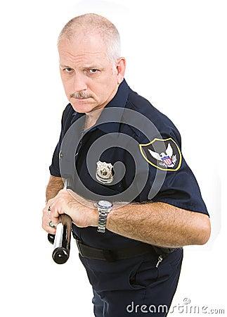 Agressieve politieagent -
