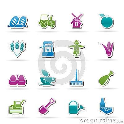 Agricoltura ed icone di azienda agricola