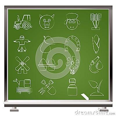 Agricultura e ícones do cultivo