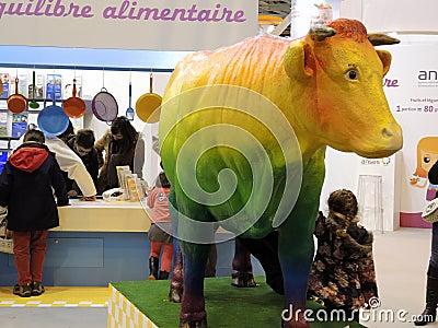 Agricultura Paris 2013 do salão de beleza Foto Editorial