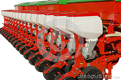 Agricultural equipment for fertilizer earth