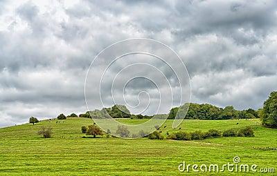 Agricultural landscape in central France