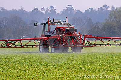 Agricultural Machine spraying crops