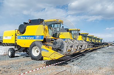 Agricultural machinery exhibition. Tyumen. Russia Editorial Stock Image