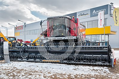 Agricultural machinery exhibition. Tyumen. Russia Editorial Stock Photo