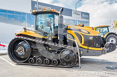 Agricultural machinery exhibition. Tyumen. Russia Editorial Photography