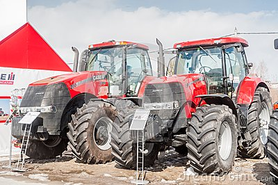 Agricultural machinery exhibition. Tyumen. Russia Editorial Photo