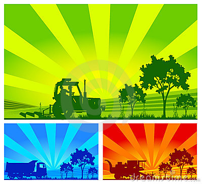 Free Agricultural Machinery, Vector Royalty Free Stock Images - 4154729