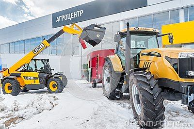 Agricultural wheel loader. Tyumen. Russia Editorial Image