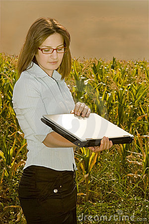 Agriculture engineer in field