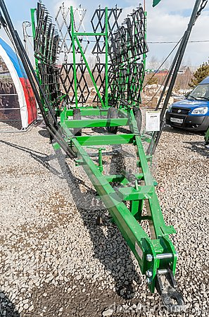 Agriculture equipment on exhibition. Tyumen.Russia Editorial Photography