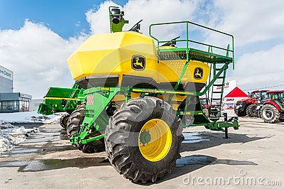 Agriculture equipment on exhibition. Tyumen Editorial Stock Photo