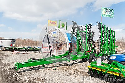 Agriculture equipment on exhibition Editorial Photography