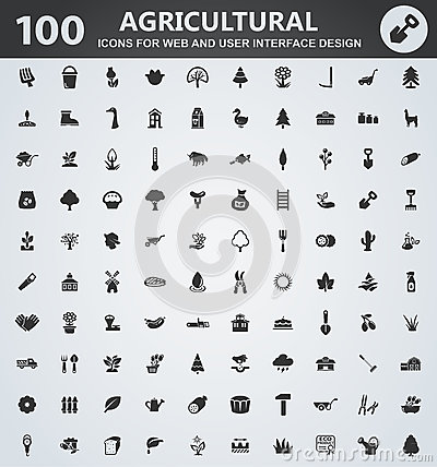 Agriculture icon set Vector Illustration