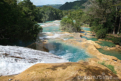 Agua Azul waterfall on Chiapas