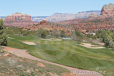 Agujero del golf de Sedona Arizona