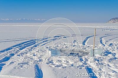 Agujero del hielo