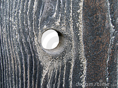 Agujero en madera