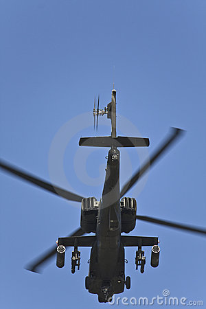 AH-64 Apache military helicopter