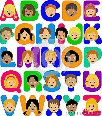 Ai字母表孩子