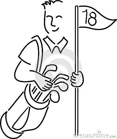 Bildresultat för golfboll tecknad