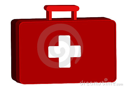 Aid kit with medicine