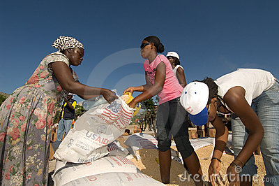 Aid Recipients Editorial Stock Image