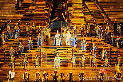 Aida at arena of Verona Editorial Image