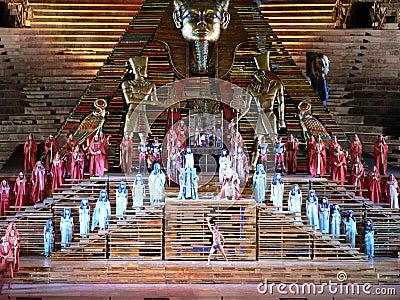 Aida at arena, Verona (Italia ) Editorial Photo