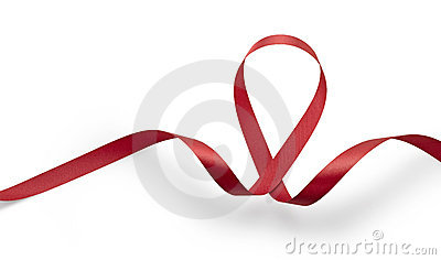 Aids awareness red ribbon