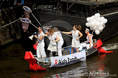 Aids Fund (Canal Parade Amsterdam, 2008) Editorial Stock Photo
