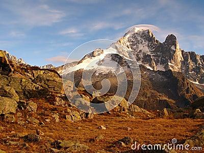 Aiguille Verte and Aiguille Dru, Mont Blanc, Alps