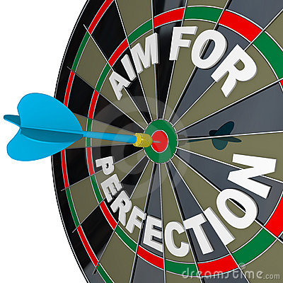 Aim for Perfection - Dart Hits Target Bulls-Eye